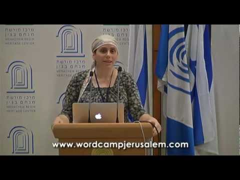 WordCamp Jerusalem 2011 – opening remarks by Miriam Schwab and UppSite