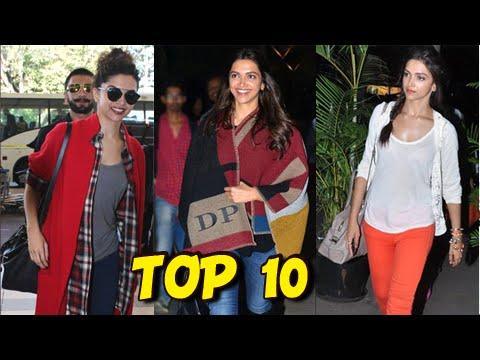 Deepika Padukone's SEXY Airport Fashion   Top 10 Looks