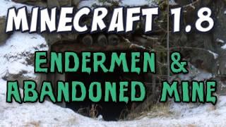 Minecraft - Endermen&Abandoned Mine Shafts (1.8 Prerelease Part 2)