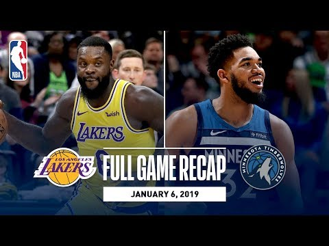 Video: Full Game Recap: Lakers vs Timberwolves | Wiggins and Towns Combine For 56 Points