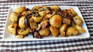 Roasted Wild Mushroom&Potato Salad - Fall Mushroom&Potato Side Dish Recipe