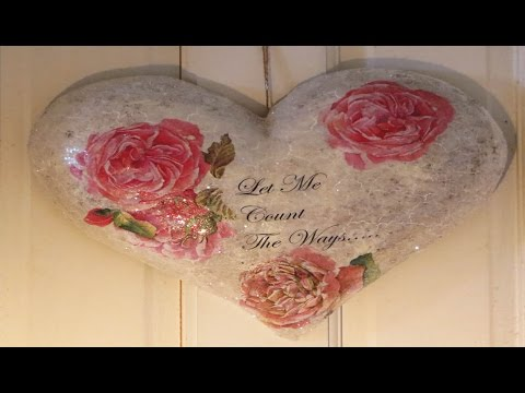 decoupage tutorial - image transfer on heart