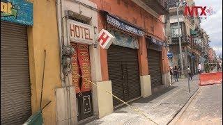 Poblanos tratan de retomar actividad normal en el Centro Histórico