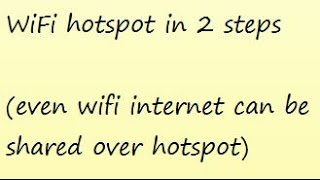 sharing your Laptop's internet to any wifi enabled device here the internet connection could be any even if WIFI connection its accepted.
