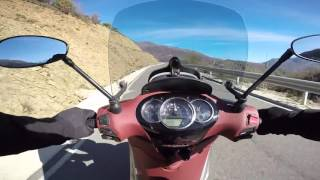 9. Piaggio Beverly 350 Sport Touring ---Mountain Riding--- GoPro