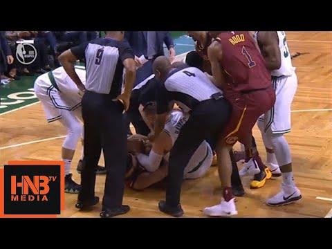 Larry Nance Jr. & Aron Baynes crazy fight for the ball / Cavaliers vs Celtics Game 2