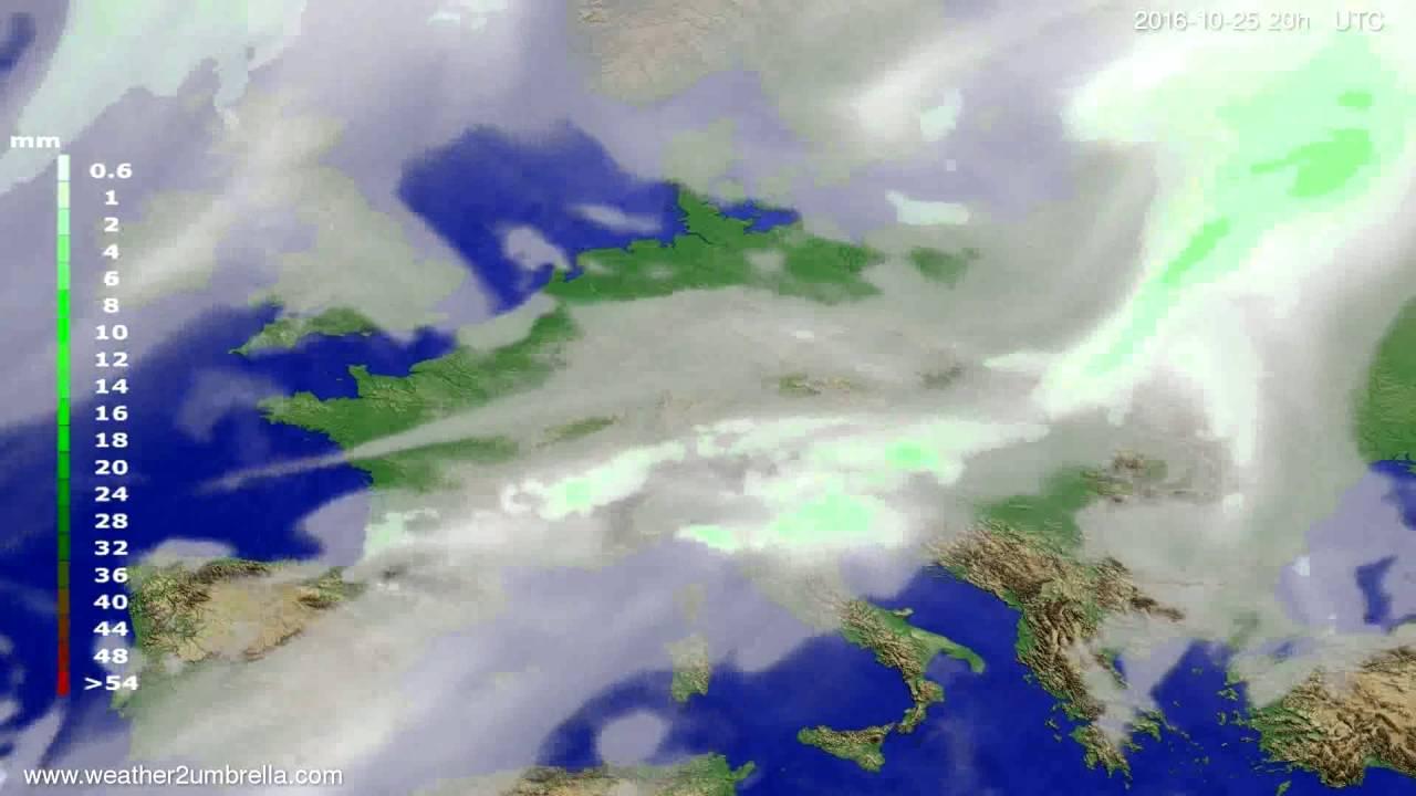 Precipitation forecast Europe 2016-10-23