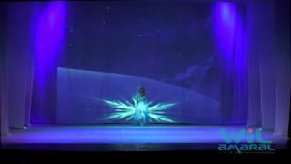 Dança com Projeção Mapeada - Frozen