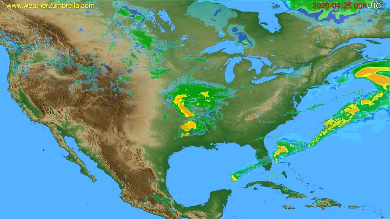 Radar forecast USA & Canada // modelrun: 12h UTC 2020-04-24