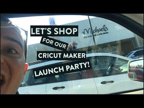 Let's Shop For Our Cricut Maker LAUNCH PARTY! (видео)