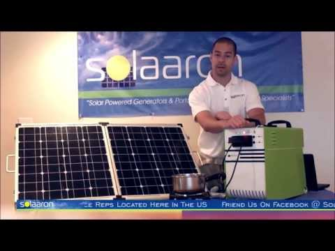 Solaaron Solar Generator: The Power Station1500 Review Demonstration Video