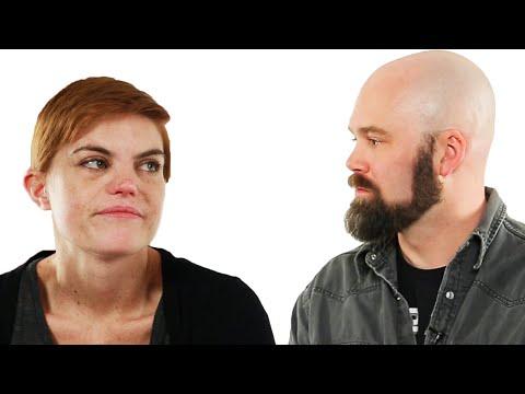 Divorced Couple Looks At Their Wedding Photos