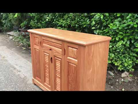 Tủ giày gỗ Đinh Hương 1m2