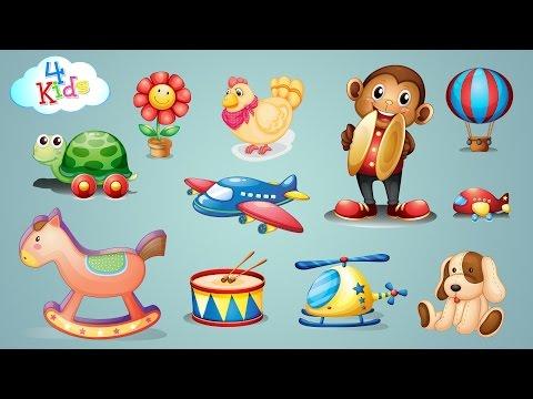 Viele Spielzeuge und Spielsachen Lernvideo für Kinder und Kleinkinder (deutsch) (видео)