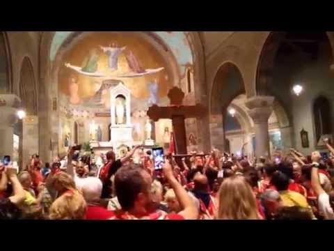 Legnarello festeggia la vittoria del Palio2015