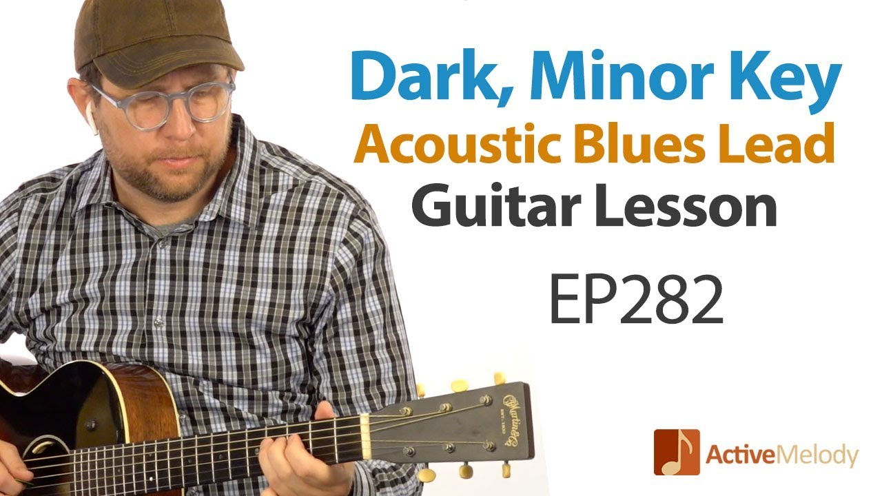 Learn a dark, blues lead on acoustic guitar – EASY to play! – Blues Guitar Lesson EP282