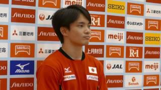 田中佑典選手 男子体操強化合宿 記者会見