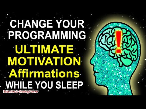 Motivational Affirmations While You Sleep!!  Program Your Mind Power For Wealth And Success!!
