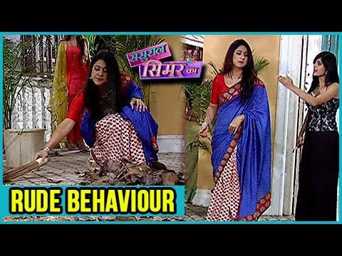 Anjali TROUBLES Simar And Asks Her To Sweep The Fl