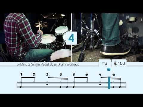 5-minute Single Pedal Bass Drum Workout