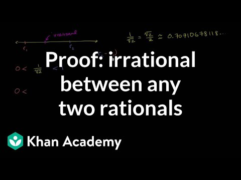 how to prove numbers are rational