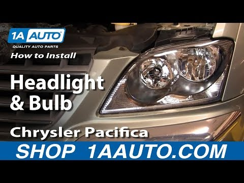 How To Install Replace Headlight and Bulb Chrysler Pacifica 04-06 1AAuto.com