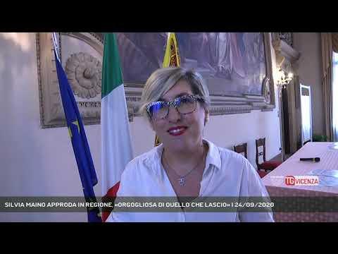 SILVIA MAINO APPRODA IN REGIONE, «ORGOGLIOSA DI QUELLO CHE LASCIO» | 24/09/2020