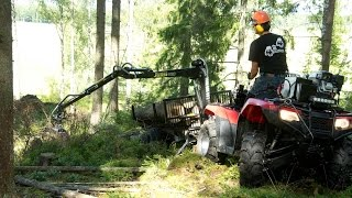 Video Vahva Jussi timber trailer - REAL TEST by - 4x4 Maailma Finnish magazine MP3, 3GP, MP4, WEBM, AVI, FLV Mei 2017