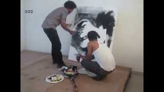 Eyob Mekonnen's Tribute Live Painting By Usie&Yonas