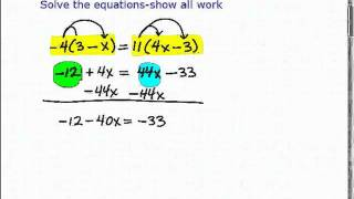 GED Exam- Help With How To Solve Algebra Equations