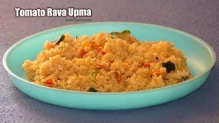 TOMATO UPMA  Andhra Style Rava Upma With Tomato  Suji Ka Upm...