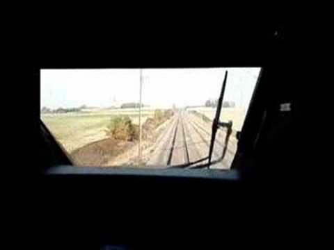 LGV Sud-Est en cabine TGV