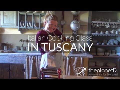 Italian Cooking Class In Tuscany - Learning To Make Homemade Pasta | Italy Travel Vlog