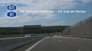 Sulz am Neckar Germany  city photo : [D] A831+A81 AS Stuttgart-Vaihingen - AS Sulz am Neckar