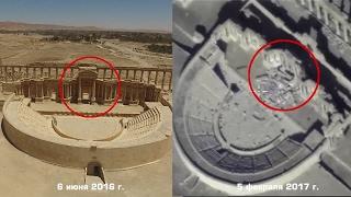 Видеодоказательства уничтожения боевиками объектов Древней Пальмиры