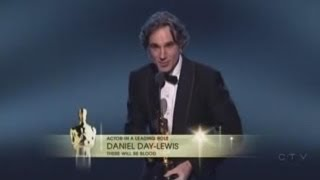 Video Daniel Day-Lewis winning Best Actor for There Will Be Blood MP3, 3GP, MP4, WEBM, AVI, FLV Maret 2018