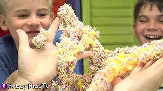 We have a PlayFoam party! The HobbyKids make awesome things like SpongeBob, a rainbow cake and huge lips, so funny. We also open surprise eggs.  Subscribe for NEW Shows: http://www.youtube.com/subscription_center?add_user=HobbyKidsTV ---TOY VIDEOS---Family Video Gaming Fun: https://www.youtube.com/playlist?list=PLzDMAGLsSlZrhbIdcXn1B5qLtd_6D9407World's Biggest Surprise Eggs: https://www.youtube.com/playlist?list=PLzDMAGLsSlZoNvpGg-ijs4DlYu2RMSOxoGames and Challenges: https://www.youtube.com/playlist?list=PLzDMAGLsSlZqo_IVVsyn7Sn0yFehplgK1Best Family Fun Shows: https://www.youtube.com/playlist?list=PLzDMAGLsSlZpBsqsE4zkBbucAsQ0bgiWdLearning Playlist:http://www.youtube.com/playlist?list=PLzDMAGLsSlZo8aAHrPRzVmM_oW_hZtxdO---OUR OTHER HOBBY CHANNELS---HobbyFamilyTV (Vlog and Extras): http://www.youtube.com/user/hobbykidsvidsHobbyPigTV (Video Gaming):http://www.youtube.com/user/hobbygamestvHobbyFrogTV (Video Gaming):http://www.youtube.com/user/hobbytrixieHobbyBearTV (Toys, Video Games, more):http://www.youtube.com/user/hobbykidsland---FIND US---http://www.Twitter.com/HobbyKidsTVhttps://www.facebook.com/HobbyKidsTV/http://www.HobbyKidsTV.comhttps://www.instagram.com/hobbykidstv/---ABOUT HobbyKidsTV---HobbyKidsTV is the #1 place for kids to watch family-friendly clean shows! Video gaming and giant surprise egg adventures. We are world renowned for being the first and original inventor of all GIANT SURPRISE EGGS! It was our sons unique idea in 2013 to make a wonderful GIANT surprise egg for all our fans. We are the leader in kids creative ideas, skits and science fun. Subscribe to HobbyKidsTV, the trusted brand of families across the globe. We produce the best and most fun kids toy and gaming shows. Collector of the best toys to teach kids imaginative play through games or adventures. HobbyKids love sharing fun educational learning and popular play. Be a HobbyFan today and subscribe for free to see new edutainment shows!---MUSIC BY---Epidemic SoundCartoon stroll 04Box full 