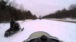 2. Polaris FST IQ Turbo vs XCR 800 Drag Race (Ben)