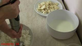 Recepty sk: Tvarohová pena s banánom