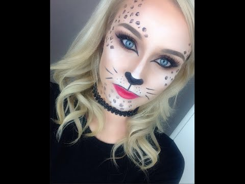 Glamorous Leopard / Cat Makeup Tutorial ♡ Perfect for Halloween and Fancy Dress