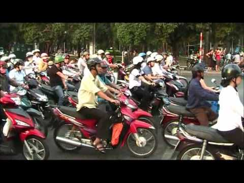 Crazy, chaotic and hectic traffic in Saigon, Vietnam travel video
