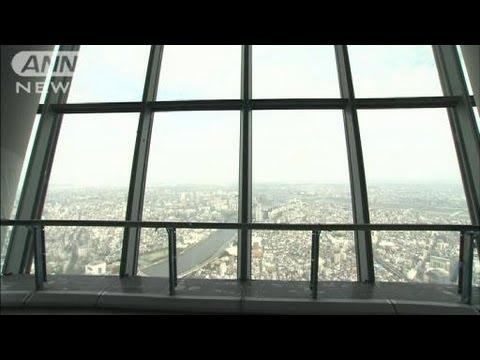 「東京スカイツリーの第1展望台(高さ350m)、初公開時の映像。」のイメージ