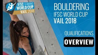 IFSC Climbing World Cup Vail 2018 - Bouldering Qualifications Overview by International Federation of Sport Climbing
