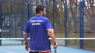 Die Padel-Anlage vom UniSport der Uni Köln in vollem Einsatz!