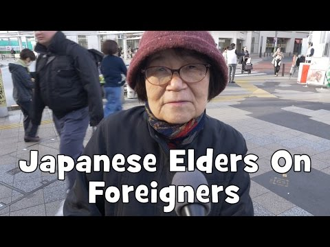 Do Japanese Elders Want Foreigners in Japan? (Interview, Re-upload) (видео)