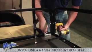 How to install a Madjax® Rear Flip Seat on a Club Car® Precedent® golf cart. Visit us online at http://www.mymadjax.com.