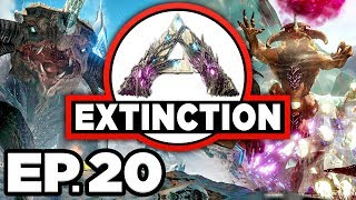 ARK: Extinction Ep.20 - OPENING GACHA CLAUS MYSTERY BOXES / LOOT BOXES!! (Modded Dinosaurs Gameplay)