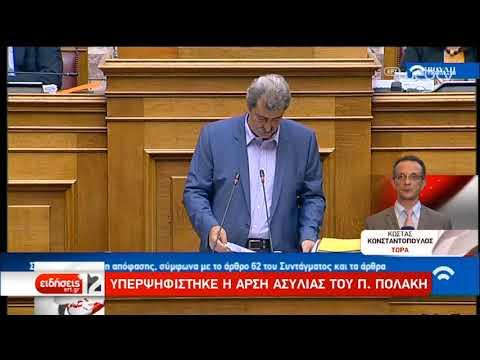 Άρση της ασυλίας Πολάκη αποφάσισε η Βουλή | 31/07/2019 | ΕΡΤ