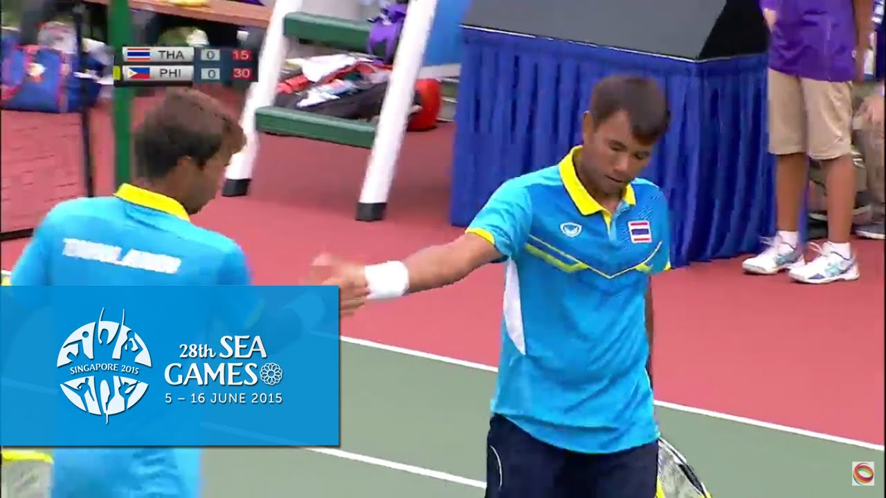 Tennis Men's Doubles  Final THA vs PHI (Day 8) | 28th SEA Games Singapore 2015