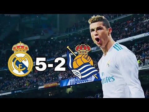 Real Madrid vs Real Sociedad 5-2 | All Goals & Highlights | La Liga 10/02/2018 HD